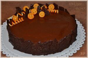 Ořechový dort s čokoládovým krémem