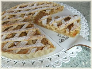 Mřížkový jablečný koláč