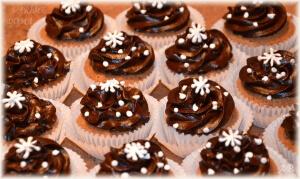 Kakaové košíčky s čokoládovým krémem