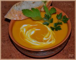 Dýňová indická polévka
