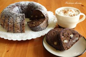Čokoládovo-mandlová bábovka