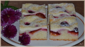 Rychlý koláč se švestkami a tvarohem