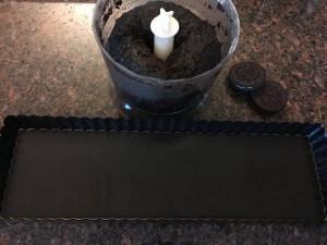 Nepečený oreo čokoládový dort