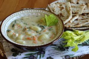 Krémové gnocci se zeleninou a kuřecím masem