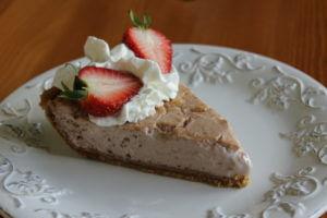 Jahodový čízkejk (cheesecake)