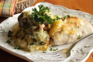 Ryba zapečená s brokolicí v bešamelové omáčce