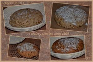 Cibulový pšenično-žitný chléb - postup