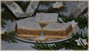 Linecký koláč s ořechovou náplní