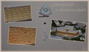 Linecký koláč s ořechovou náplní 2