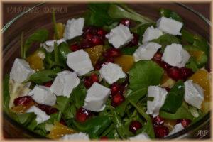 Salát s pomerančem a granátovým jablkem 2