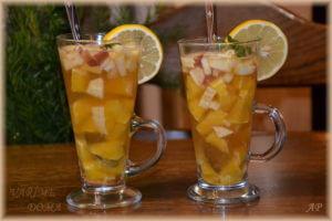 Zázvorový čaj s ovocem