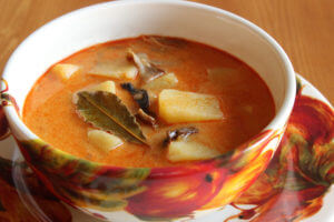 Houbová sváteční polévka