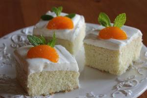 Jogurtové řezy s mandarinkami